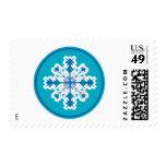 Circular Snowflake Stamps
