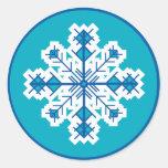 Circular Snowflake Stickers