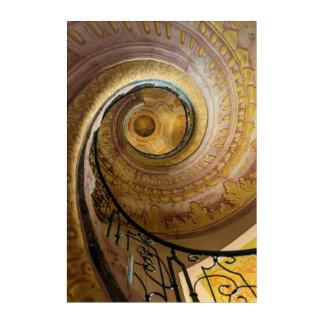 Circular spiral staircase, Austria Acrylic Print