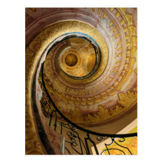 Circular spiral staircase, Austria Postcard