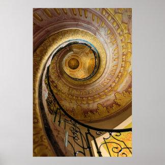 Circular spiral staircase, Austria Poster