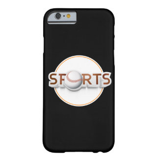 Circular SPORTS Logo with BASEBALL Barely There iPhone 6 Case