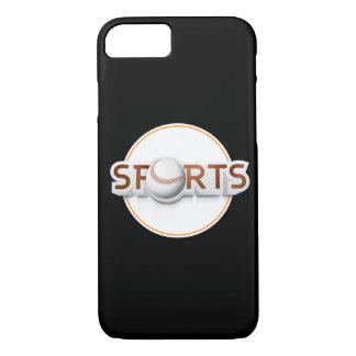 Circular SPORTS Logo with BASEBALL iPhone 7 Case