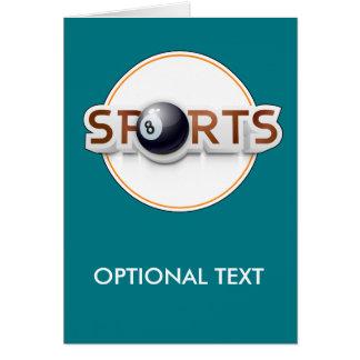 Circular SPORTS Logo with BILLIARD BALL Card