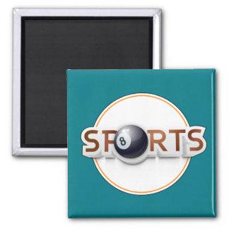 Circular SPORTS Logo with BILLIARD BALL Magnet