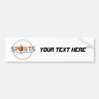 Circular SPORTS Logo with FOOTBALL Bumper Sticker