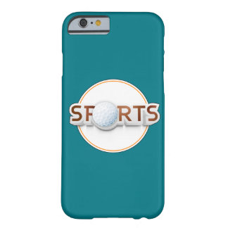 Circular SPORTS Logo with GOLF BALL Barely There iPhone 6 Case