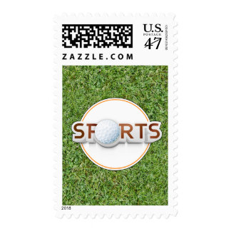 Circular SPORTS Logo with GOLF BALL Postage