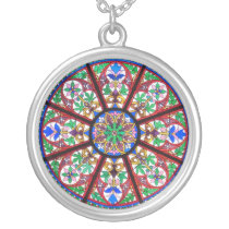 Circular Stained Glass Necklace