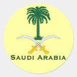 Circular Sticker* de la Arabia Saudita Pegatinas Redondas