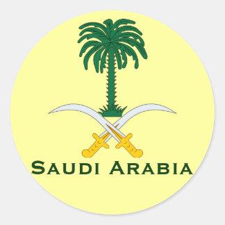 Circular Sticker de la Arabia Saudita Pegatinas