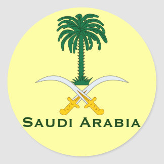Circular Sticker* de la Arabia Saudita Pegatina Redonda