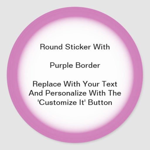 Circular Stickers With A Purple Border In Sheets
