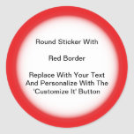 Circular Stickers With A Red Border In Sheets at Zazzle