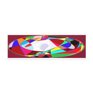 circular structures canvas print
