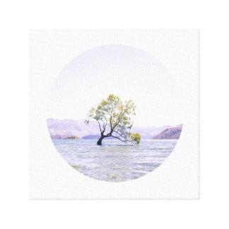 Circular Wanaka Tree Canvas Print