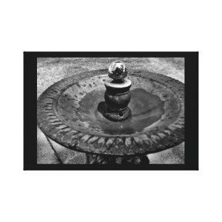 Circular Water Fountain Canvas Print