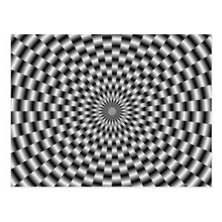 Circular Weave in Monochrome Post Card