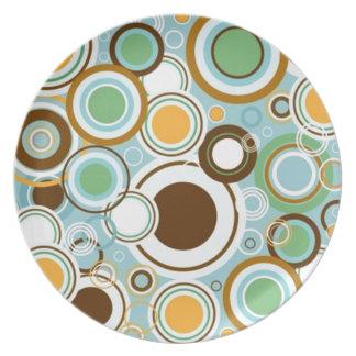 circulares de los formas de COM del padrão Plato De Cena