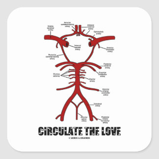 Circulate The Love (Circle Of Willis) Stickers