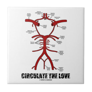 Circulate The Love (Circle Of Willis) Small Square Tile