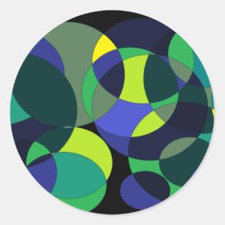 Circuliar 1. classic round sticker