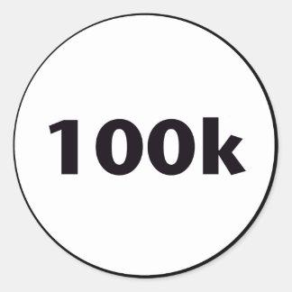 círculo 100k pegatina redonda