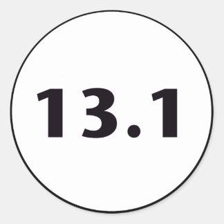 círculo 13,1 pegatina redonda