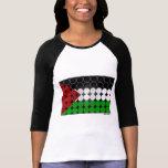Círculo 2 de la bandera de Palestina Remera