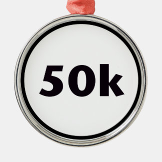 círculo 50k adorno redondo plateado