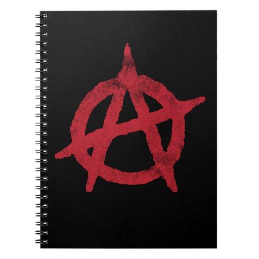 Círculo A de la anarquía Libros De Apuntes
