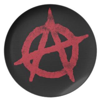 Círculo A de la anarquía Plato De Comida