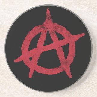 Círculo A de la anarquía Posavasos Cerveza