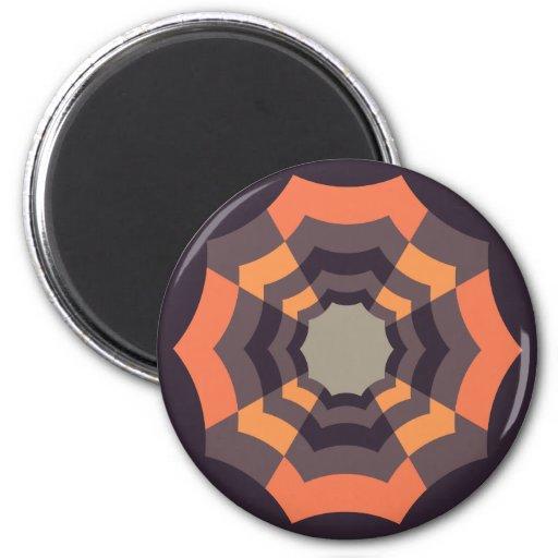 Círculo abstracto imán redondo 5 cm