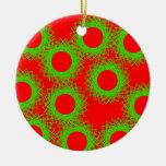 círculo afortunado de la baya roja ornamentos de navidad