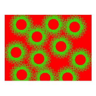 círculo afortunado de la baya roja postales
