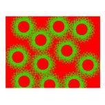 círculo afortunado de la baya roja tarjeta postal