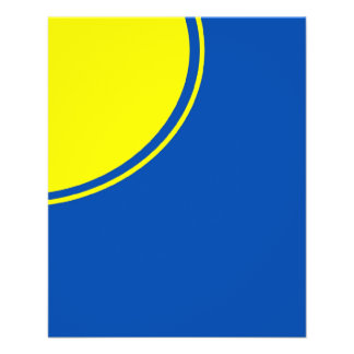 """Círculo amarillo y azul brillante de la MOD Folleto 4.5"""" X 5.6"""""""