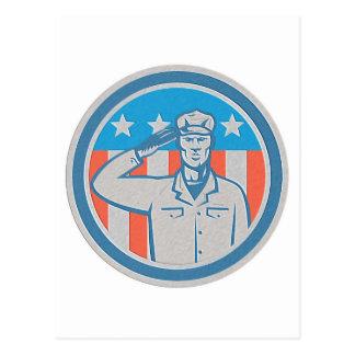 Círculo americano de la bandera del saludo del sol tarjetas postales