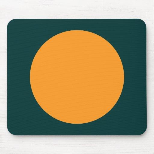 Círculo - anaranjado claro con verde de DK Tapete De Raton