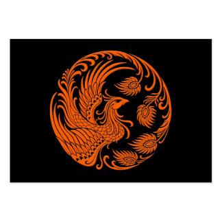 Círculo anaranjado tradicional de Phoenix Tarjetas De Visita Grandes