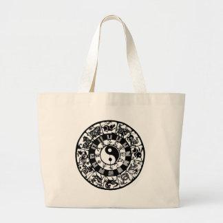 Círculo astrológico bolsa tela grande