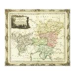 Círculo austríaco del mapa del Sacro Imperio Roman Impresiones De Lienzo