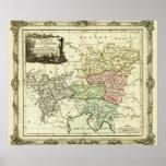 Círculo austríaco del mapa del Sacro Imperio Roman Póster