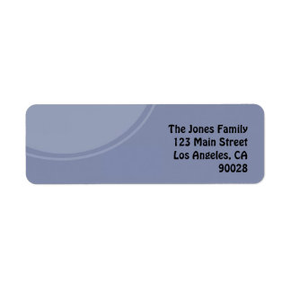 Círculo azul claro etiqueta de remitente