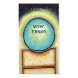 Círculo azul de la diversión del arte abstracto qu plantilla de tarjeta personal