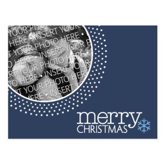 Círculo azul de las Felices Navidad - foto del día Tarjetas Postales