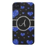 Círculo azul de los diamantes negros de los iPhone 4 carcasas