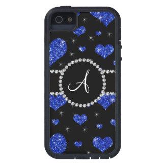 Círculo azul de los diamantes negros de los iPhone 5 Case-Mate protector