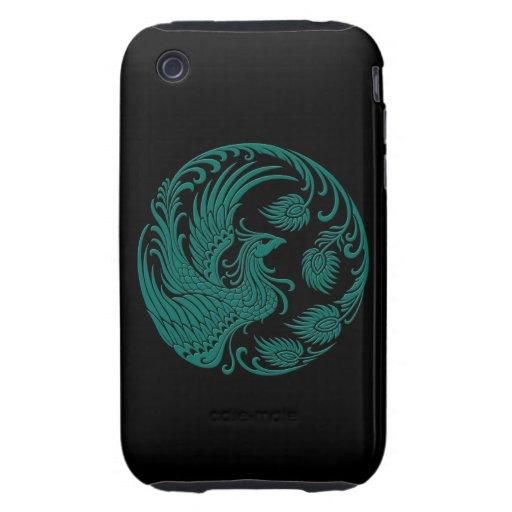 Círculo azul de Phoenix del trullo tradicional en Tough iPhone 3 Fundas